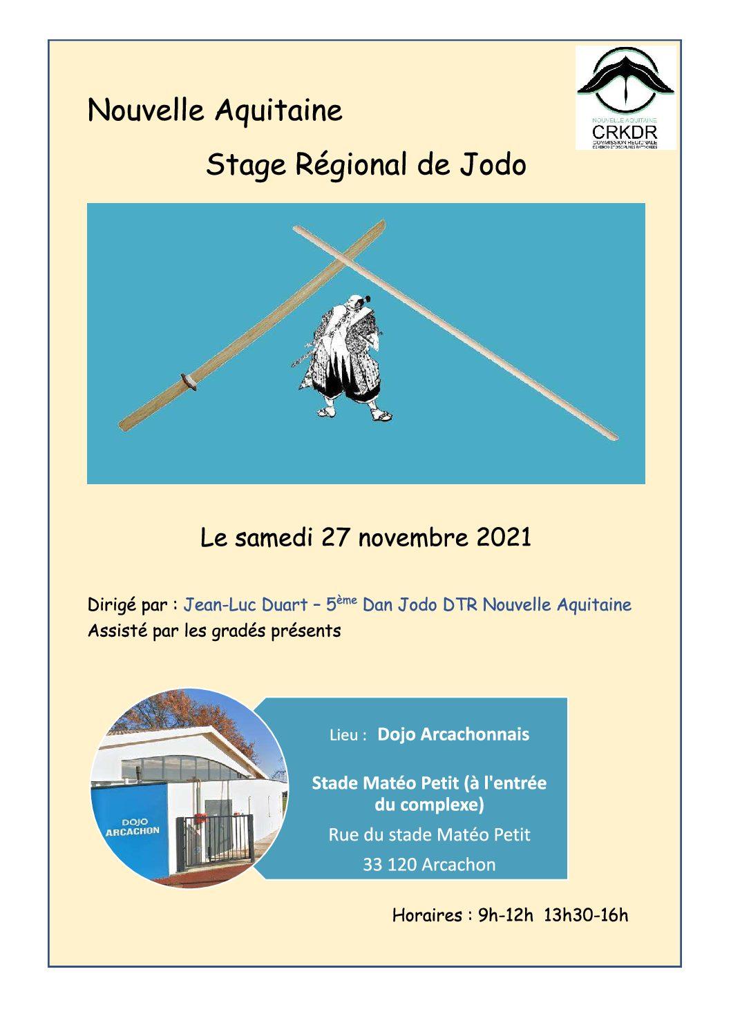 Stage Régional de Jodo à Arcachon (27 novembre)